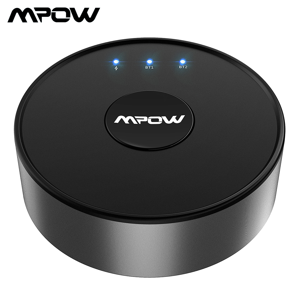 Mpow BH261 Bluetooth Transmitter aptX LOW LATENCY Optical 3.5mm Bluetooth 5.0 Wireless Audio Adapter For Headphones Speakers TV цена