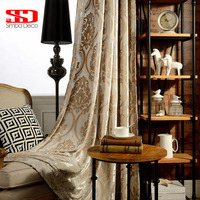 High Grade Fabric Jacquard Luxury Curtains Blackout For Bedroom Blinds Drapes European Damask Window Cortinas For