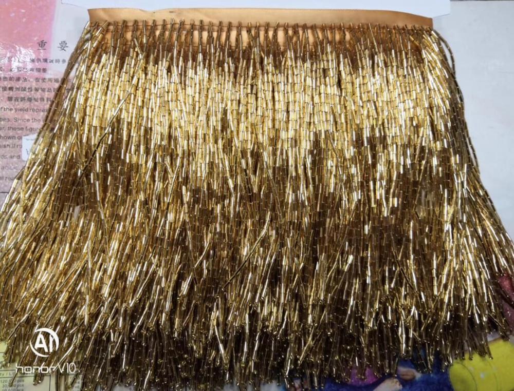Ev ve Bahçe'ten Dantel'de 15cm ZH 52921 boncuk püskül saçak için Güzel tasarım dekorasyon elbise'da  Grup 1