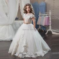 Princess Flower Girl Dresses Pageant First Communion Dresses Custom Made 2017 Girls Glitz Wedding Guest Gowns