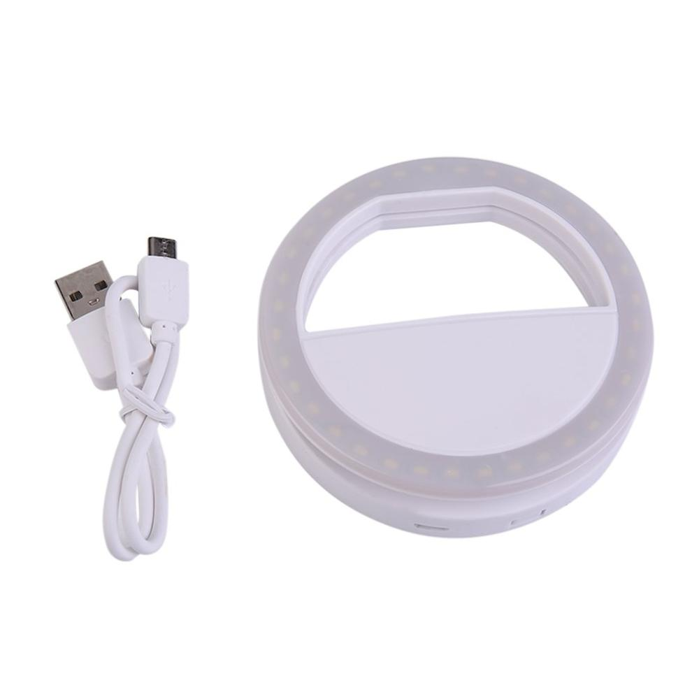 Smart Phone Fill Light Rechargeable Clip-On Design Luminous Lamp LED Flash Light Phone Ring For Iphone For Samsung