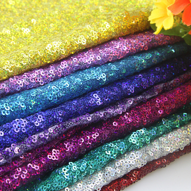 50*147CM sequin fabric for Tissue Kids Bedding textile for Sewing Tilda Doll, DIY handmade materials Party Events Fabric