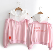 BTS Love Yourself Off-Shoulder Hoodie [3 colors]