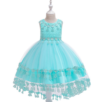 Ballgown Lace Formal Wear Princess Birthday Gowns Dresses for 3-10 Year  Flower Girls Dress Kids Girl Dresses 2017 baby girl dress children kids dresses for girls 3 4 5 6 7 8 year birthday outfits dresses girls evening party formal wear