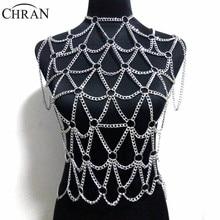 Chran 2017 New Fashion Full Beach Chain Necklaces & Pendants For Women Sexy Statement Men Vest wear Dress Jewelry CRBJ1010