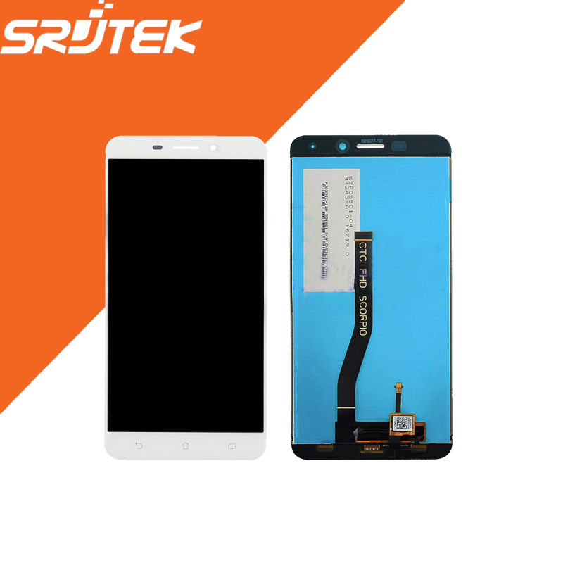 ФОТО 5.5'' High Quality 1280x720 For Asus Zenfone 3 Laser ZC551KL LCD Display + Touch Screen digitizer Full AssemblyWhite