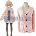 Anime Kyokai no kanata Kuriyama Mirai Suéter Lindo Cosplay Disfraces de Halloween para las mujeres niza shool chica otoño invierno suéter
