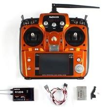 Qualité RadioLink AT10 II RC Émetteur 2.4G 10CH Télécommande Système avec R12DS Récepteur pour RC Avion Hélicoptère