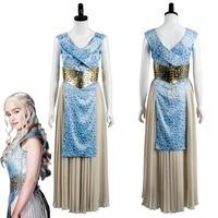 GOT Game of Thrones Daenerys Targaryen Dany Dress Cosplay Costume Halloween Carnival Costumes Fancy Dresses For Adult Women
