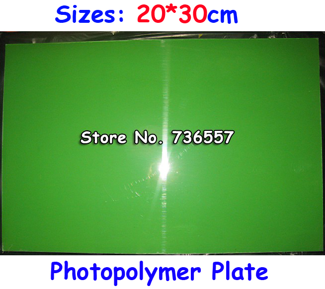 все цены на 200x300MM A4 Size Water Washable for Pad Printing Hot Foil Stamping CliChe Making UV Exposure Photopolymer Printing Plate Mold онлайн