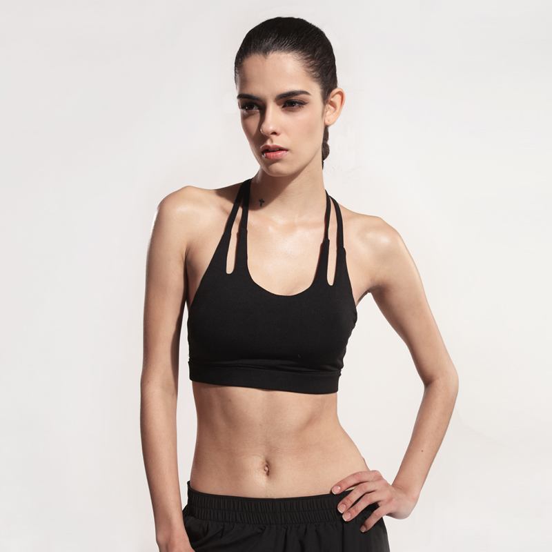 8294a3919 Sports Bra for Women activewear Running Fitness Athletic Vest Popular Sport  Bra Hollow Out Yoga Top Push Up Underwear for Woman