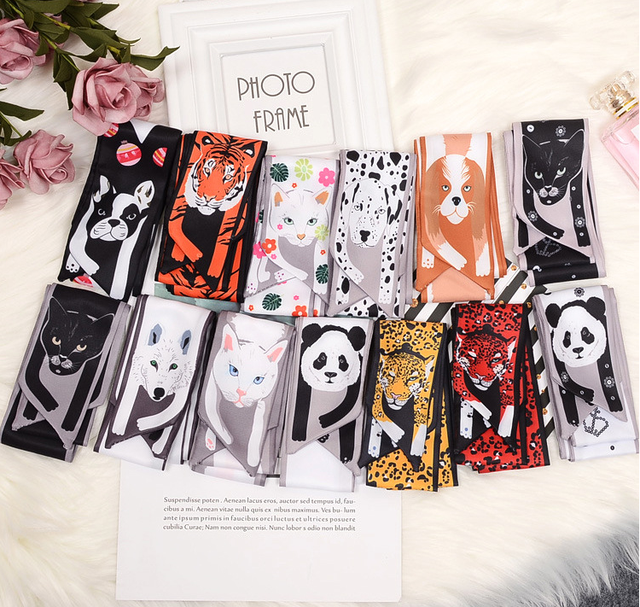 Эффектные шарфы см x см 5 см 100 трехмерное животное шелковый шарф тигр кошка собака родитель-ребенок шарф уникальный дизайн Collocation девушка G