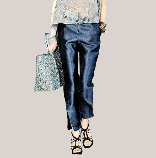 Pantalon femme pantalon offre spéciale veste pour homme en velours régulier aucune solide mi-printemps nouvelle mode Stretch soie dans la taille fentes