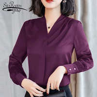womens tops and blouses Chiffon blouse shirt long sleeve women shirts fashion spring 2019 plus size office blouse women 1779 50