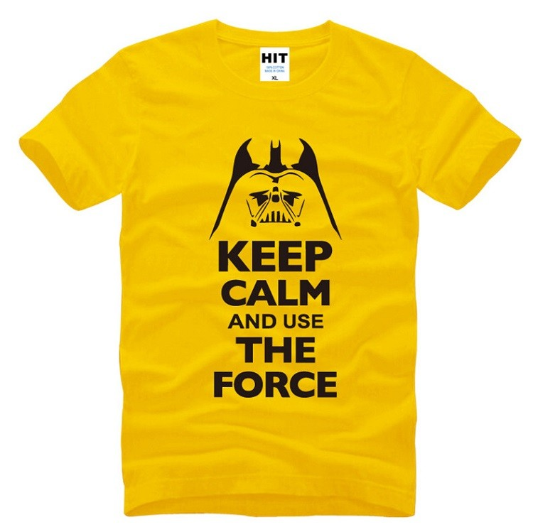 black and yellow tshirt keep calm and use the force tshirt
