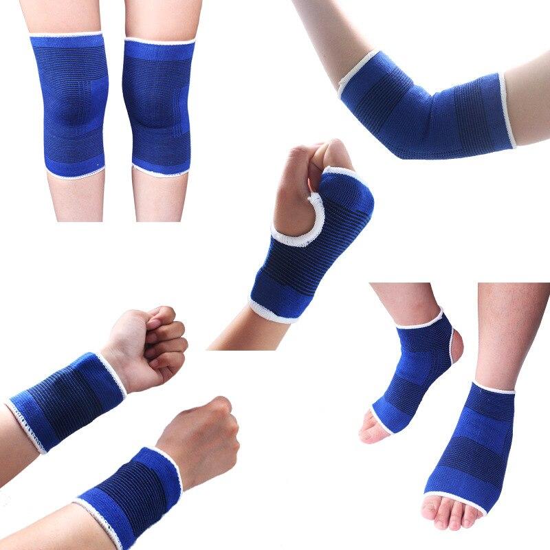 Men's Wrist Wrist 5 Piece Set Support Gloves + Elastic Ankle Support Belt + Elastic Knee Support + Sports Wristband Wristband