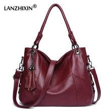 6fd4cac1f447 (Отправка из RU) Lanzhixin женские кожаные сумочки женские сумки-мессенджеры  дизайнерская сумка через плечо женская Bolsa Топ-ручка сумки Tote су.
