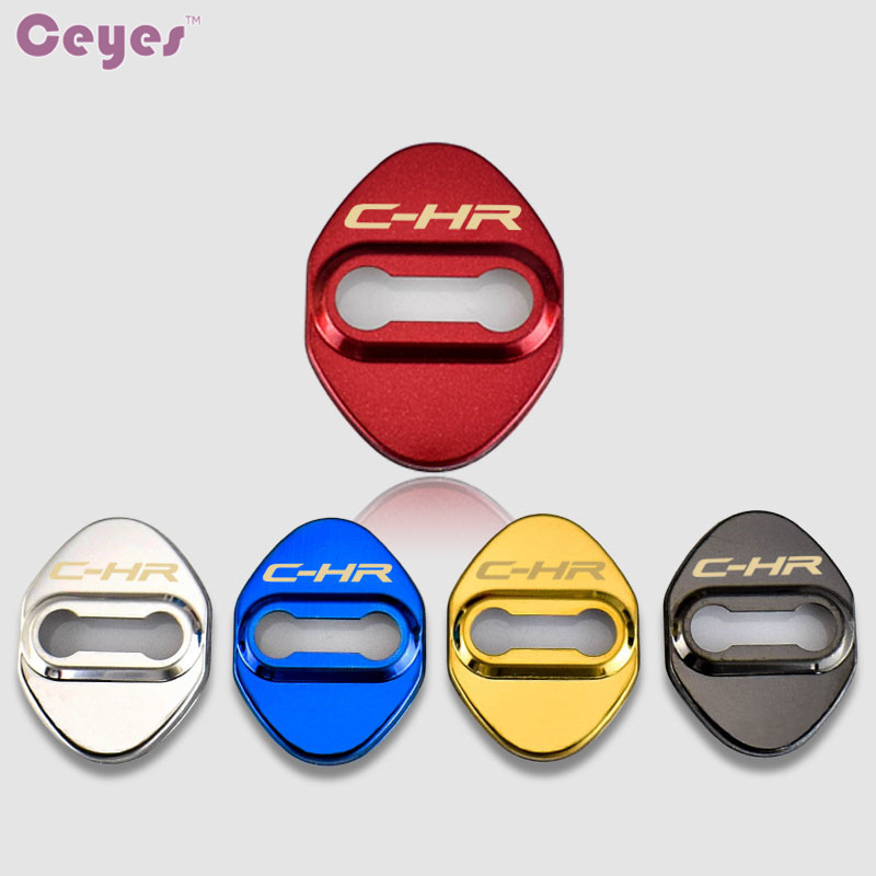 Ceyes Car Styling Auto Decoration Protection Covers Case For Toyota C-HR Verso CHR Rav4 Camry Car Emblem Accessories Car-Styling stainless steel door lock decoration protection cover emblem case for toyota c hr chr 2016 2017 2018 accossories car styling