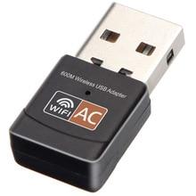 Receptor de señal Wifi tarjeta de red inalámbrica usb 600Mps adaptador de portátil de doble banda transmisor usb adaptador de red Wifi tarjeta