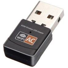 Приемник сигнала Wi Fi usb беспроводная сетевая карта 600Mps двухдиапазонный адаптер ноутбука передатчик usb сетевой адаптер Wi Fi карта