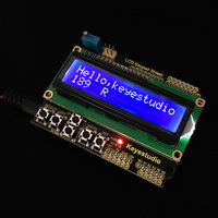 1602LCD Keypad Shield For Arduino LCD Display ATMEGA328 ATMEGA2560 For Raspberry Pi UNO Blue Screen Blacklight