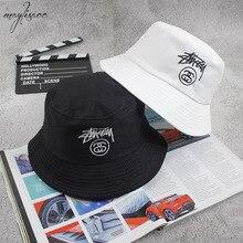 Maylisacc панамка с вышивкой для Для Мужчин's Для женщин в стиле хип-хоп Открытый Рыбалка Панама летнее солнце Боб Hat мальчик гриль