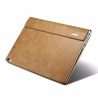 Icarer Elegant Business Genuine Leather Folio Case For Surface Book 13.5 Detachable Cowhide Leather Cover For Surface Book