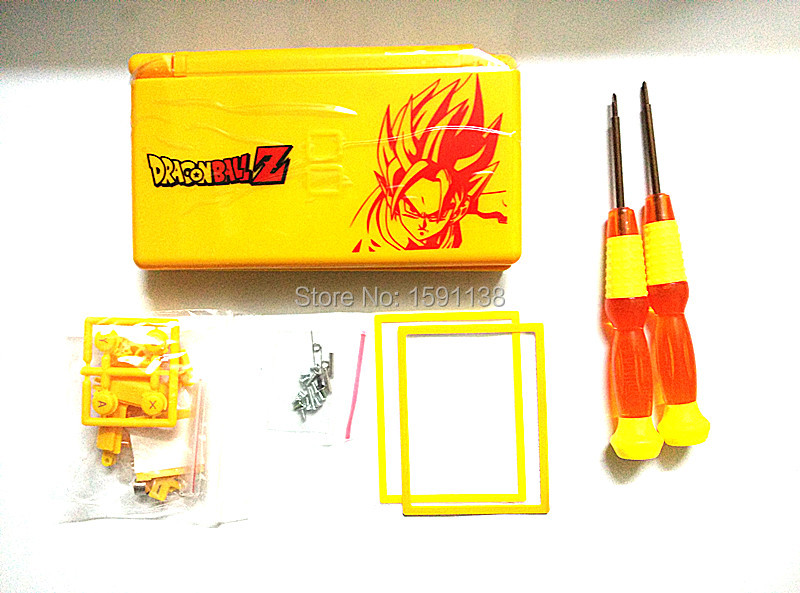 Hot Yellow Color Dragon Ball Cover Shell Case For Nintendo DS Lite Nds Replacement Game Console With Cross/Y Screwdrivers