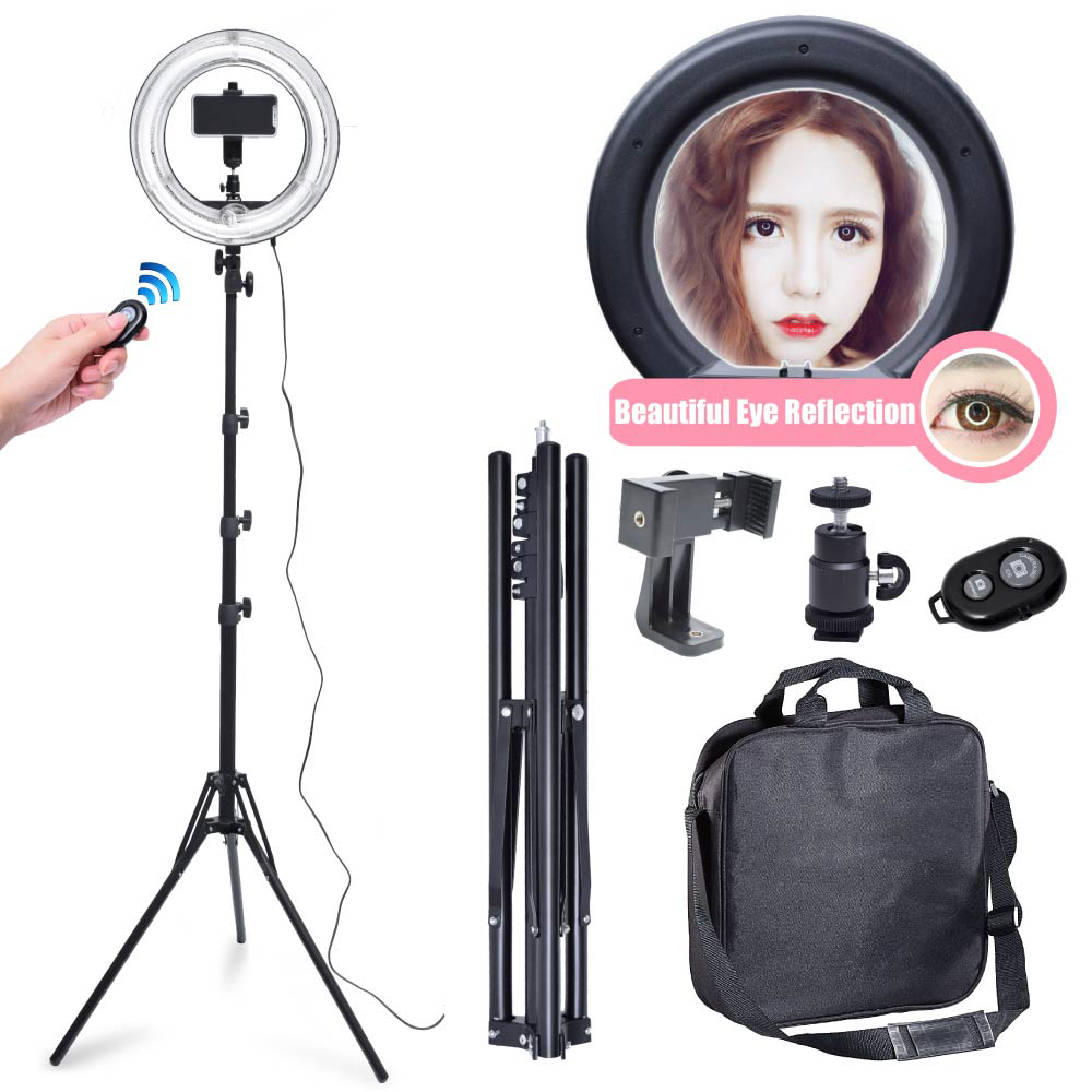 400W 34cm/ 13.5 Photo Video Diva Ring Light with 185cm Stand 360 Degree Phone Holder bluetooth Kit 220v400W 34cm/ 13.5 Photo Video Diva Ring Light with 185cm Stand 360 Degree Phone Holder bluetooth Kit 220v