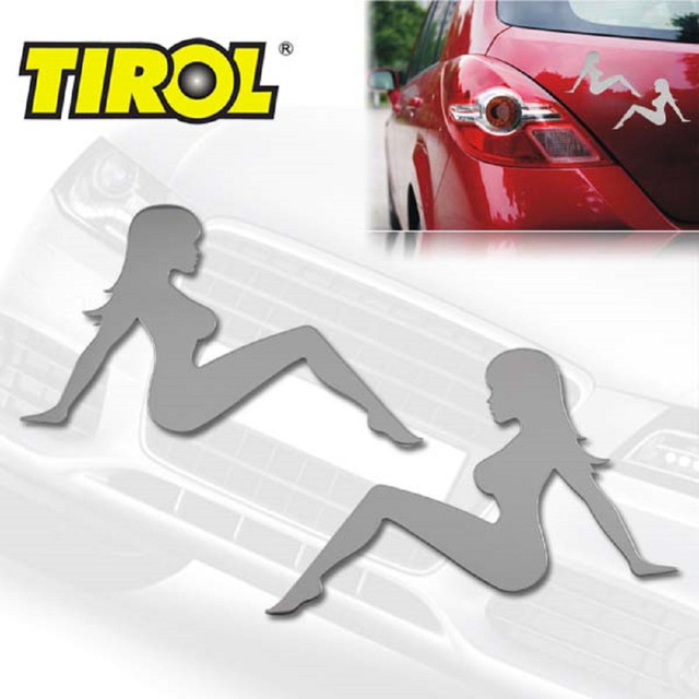 TIROL $7.99 Free shipping  Stainless Steel Trucker Girl Emblem Decal Car Sticker Car Styling Parts Car Badges T17361
