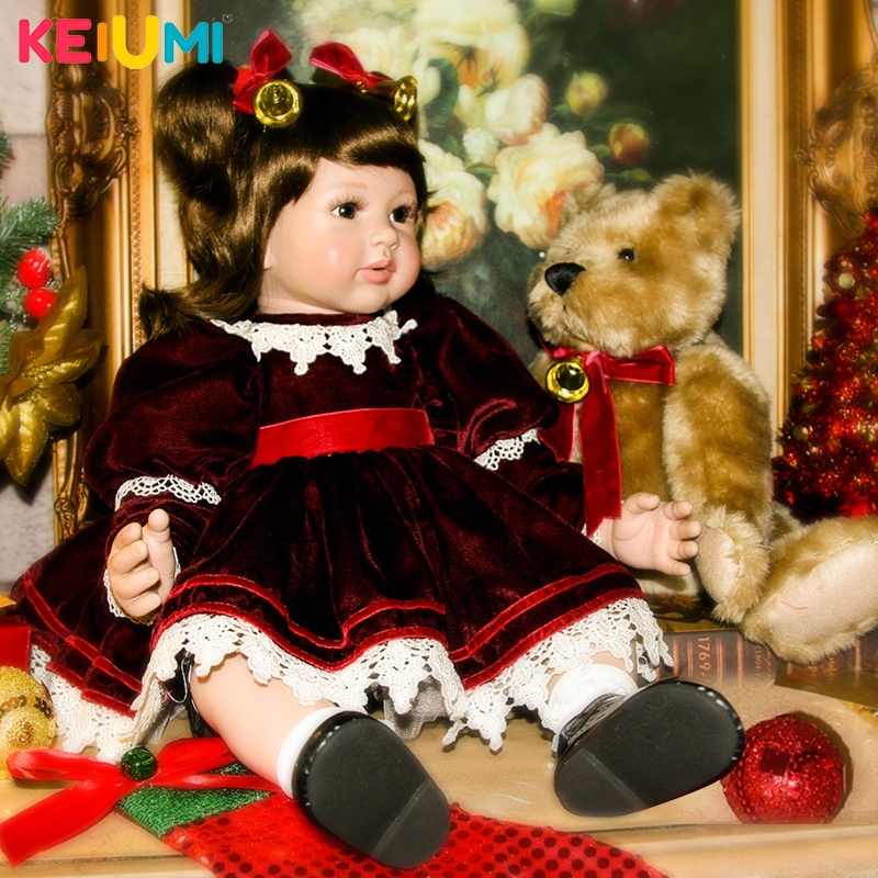 Fashion 24 Inch Lifelike Simulation Princess Doll Baby Toy Soft Silicone Reborn Baby Girl Doll Toy For Child Kids Birthday Gift 40cm 3d princess girl doll cute lifelike simulation reborn baby doll soft silicone kids playmate cloth doll toys birthday gift