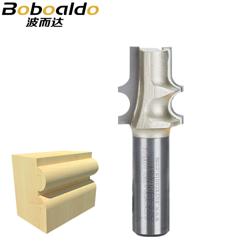 New 1ps 1/2 Shank Taper Reed Bits Arden Router Bit Two Flute Cutters With Double Equal Radii To Cut Beads On Tapered Chair Legs 100% Original Tools