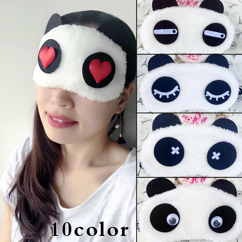 Новые милые уход за кожей лица белый маска глаза панды тени для век затенение сна хлопок сварочные очки/маска для глаз маска для сна повязка на глаза, маска для сна здравоохранения повязка на глаза, маска для сна