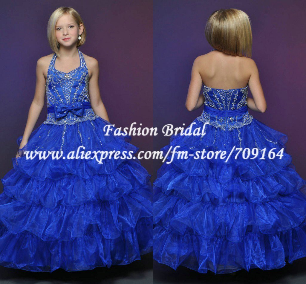 Blue Puffy Dresses for Girls