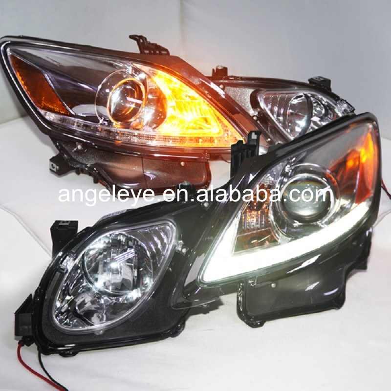 For Lexus for GS300 GS350 GS430 GS450 strip LED Head Lamp Front Lights 2006-2011 year Sliver housing SN led head lampfor lexus for lx470 led head lamp1998 2007 year