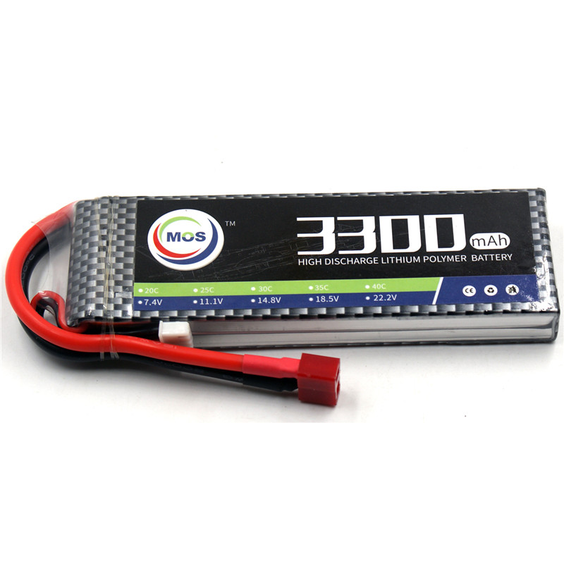 MOS RC lipo battery 2S 7.4v 3300mAh 40C-80C For RC drone helicopter car boat quadcopter Li-Po batteries AKKU new 7 4 11 v 2s 3s lipo battery balance charger for rc helicopter quadcopter