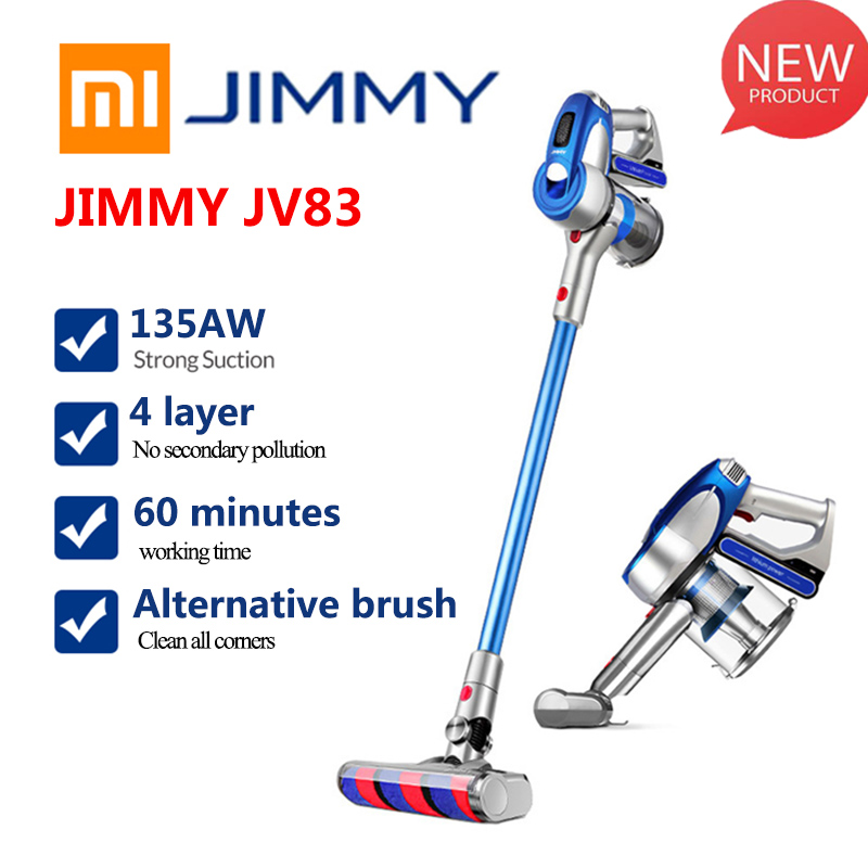 Xiaomi JIMMY JV83 Wireless Vacuum Cleaner Digital Motor 135W Strong Power 20KPa Big Suction Aspirador Dust