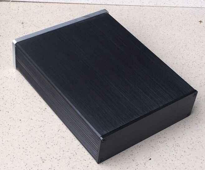 1304 Мини Алюминий усилители домашние предусилитель шасси случае мощность коробка защитный корпус/case/DIY Box (132*42*169 мм)