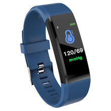 hot deal buy wishdoit mens smart wristband watches color screen heart rate activity fitness tracker smart electronics watch sms push reminder