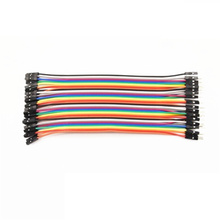 цена на 40PCS/LOT 15CM Dupont Wire Color Jumper Cable 2.54mm 1P-1P male to male,male to female, female to female