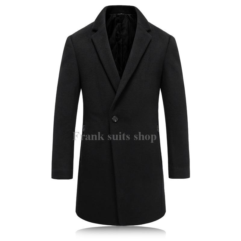 2017 Maßgeschneiderte Wolle Mantel Männer Lange Abschnitte Dicke Wollmäntel Herren Casual Fashion Jacke Casaco Masculino Palto Mantel