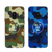 MA Camouflage Pattern Camo Army Man Style Phone Case Cover For Samsung Galaxy S6 S7 edge S8plus S9plus S10plus lite Soft