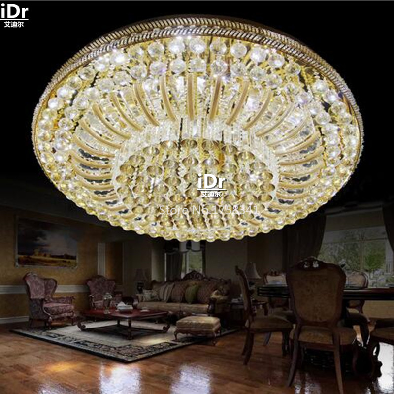 Chinese Style LED Lights Luxurious Atmosphere Crystal Lamp Living Room Bedroom Round Ceiling Dia1000xH40mm In From