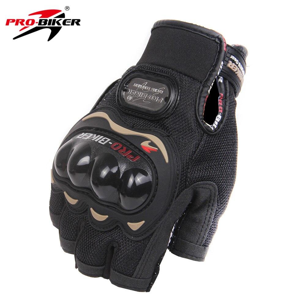 PRO-BIKER Guanti Da Moto Moto Da Corsa Mezza Finger Gloves Moto Estate Guanti Moto Equitazione Bici Da Corsa Guanti di Protezione M-XXL