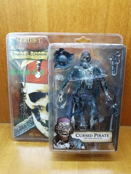 Pirates of the Caribbean The Curse of the Black Pearl NECA Blue Skull Crew Curse 6 Inch Movable 7 Inch Action Figure S167 фото