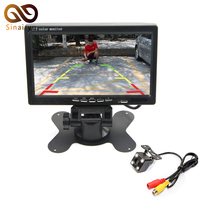 Auto Parking Reverse Camera Monitors, 7 inch Car Rear View Mirror Monitor With 4 LED Night Vision Rear View Camera