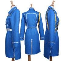 Kostium Cosplay Fullmetal Alchemist Roy Mustang Niebieski Mundur Armii Z Niebieskie Spodnie Nowy Darmowa Wysyłka