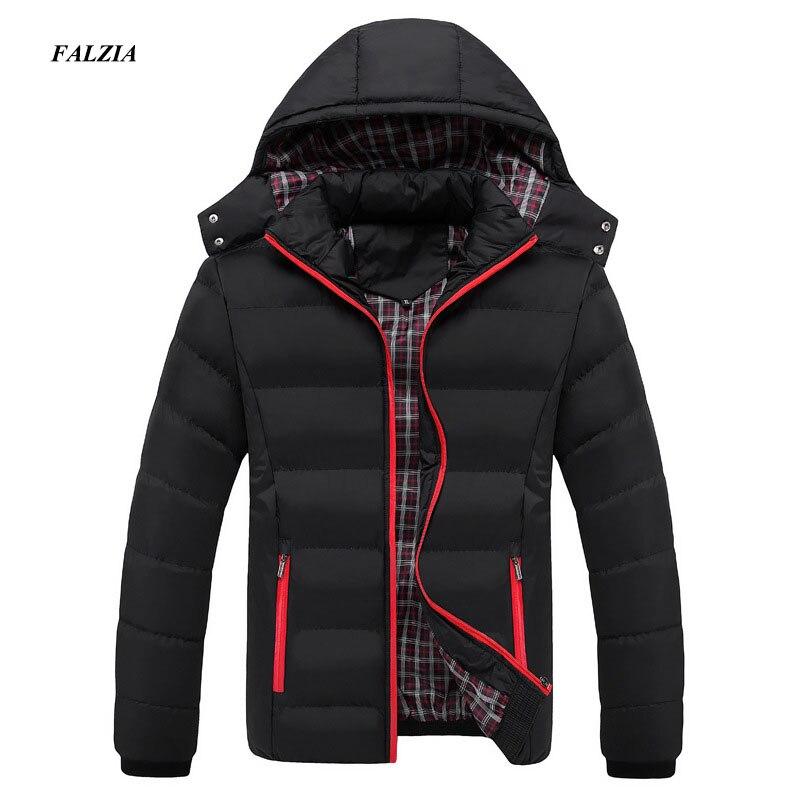FALIZA 2017 Men Winter Jacket Warm Male Coats Fashion Thick Thermal Men   Parkas   Casual Men Branded Clothing Plus Size 6XL SM-MY-G