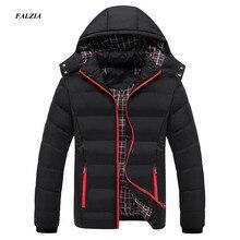 FALIZA Neue Männer Winter Jacke Warme Männlichen Mäntel Mode Dicke Thermische Männer Parkas Casual Männer Branded Kleidung Plus Größe 6XL SM MY G