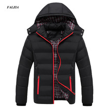 FALIZA New Men Winter Jacket Warm Male Coats Fashion Thick Thermal Men Parkas Casual Men Branded Clothing Plus Size 6XL SM MY G